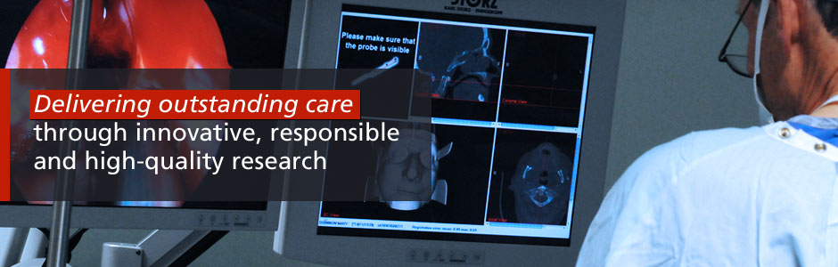 Delivering outstanding care through innovative, responsible and high-quality research