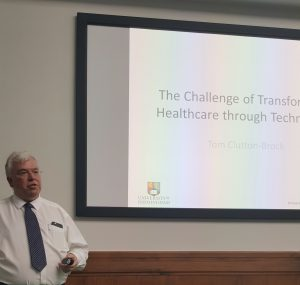 Dr Tom Clutton-Brock, Clinical Director, NIHR Trauma Management Healthcare Technology Cooperative & Reader in Anaesthesia & Intensive Care Medicine, delivered a presentation on transforming healthcare through technology.