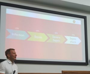 Dr Ron Daniels, Chief Executive of the UK Sepsis Trust, Consultant in Critical Care & Anaesthesia & CEO of the Global Sepsis Alliance, delivered a presentation on the challenges of sepsis treatment.